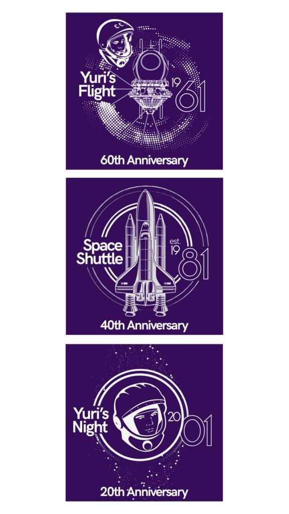 Yuri's Night 2021 Anniversary story graphic